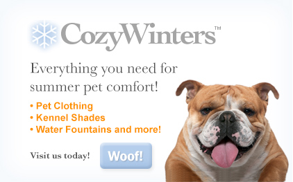 Cozy winters products to keep dogs cool in the summer time
