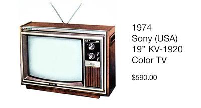 1974 sony TV