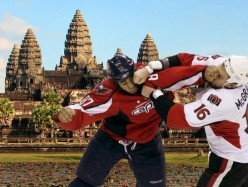 Hockey Fight in Cambodia