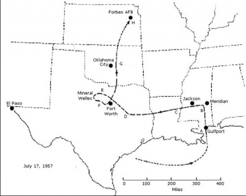 rb-47-texas-ufo-route-map