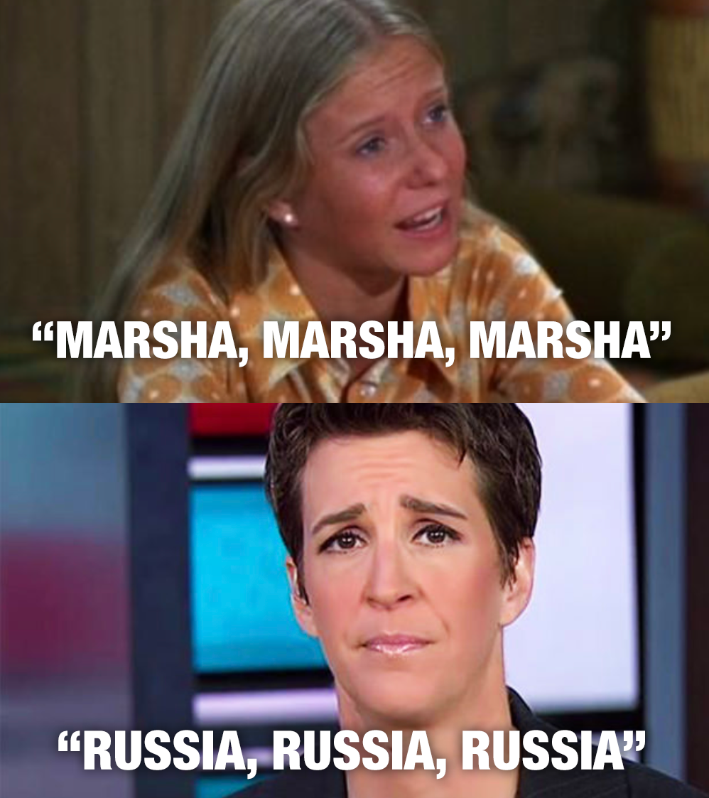 rachel maddow obsessed with Russia trump collusion ratings cnn msnbc